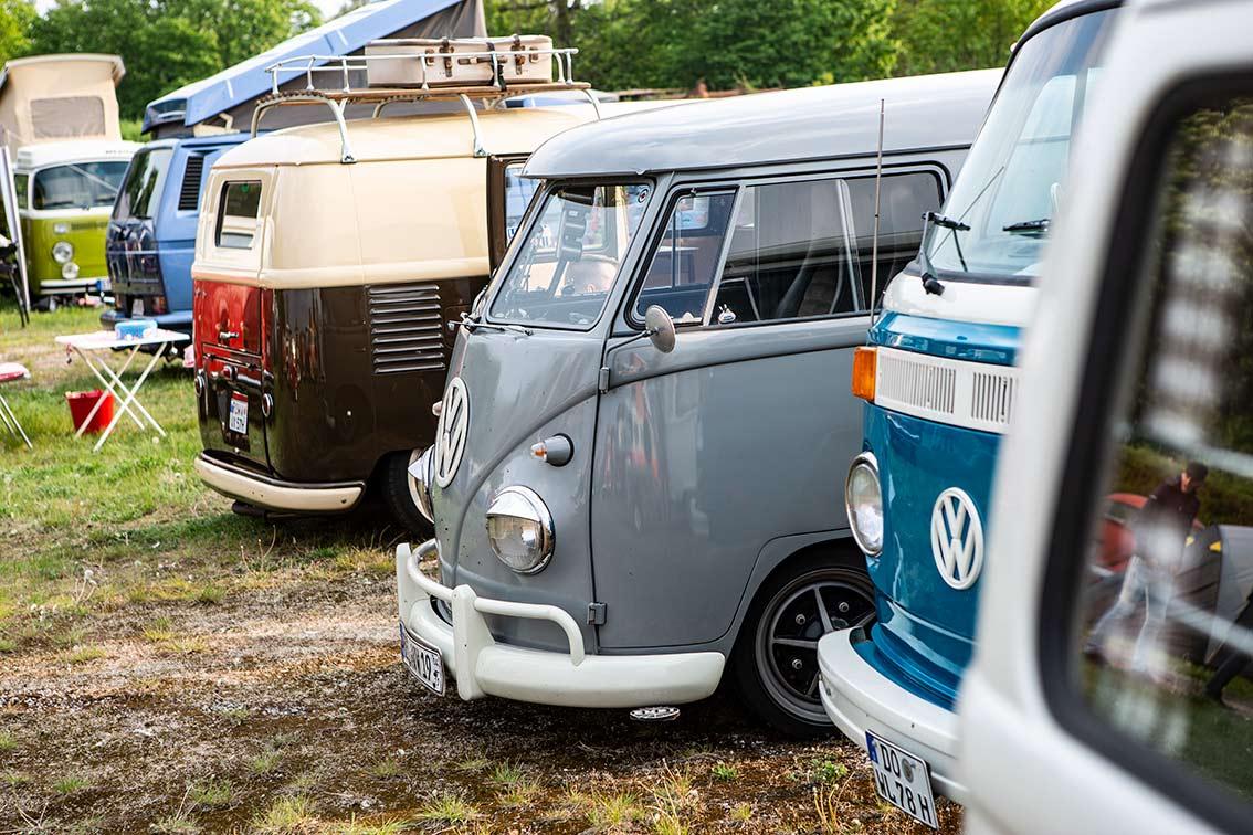 T1, T2 und T3 auf dem Campinggelände