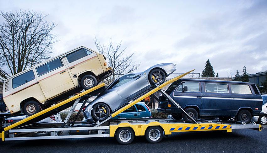 Nummer sicher: Transport per Spedition.