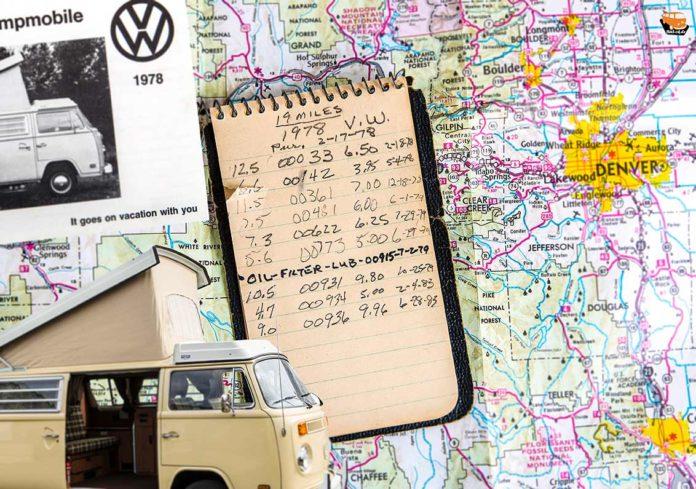 Penibel Fahrtenbuch geführt, aber nur sehr wenig genutzt. Da bleibt der Bulli wie neu!