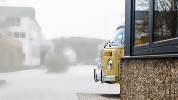 War nur ganz selten an der Luft: VW Bus T2 Westfalia Berlin