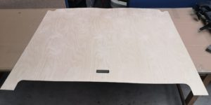 Neue Grundplatte aus Holz
