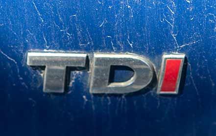 Der Schriftzug weist auf den haltbaren Motor hin: TDI