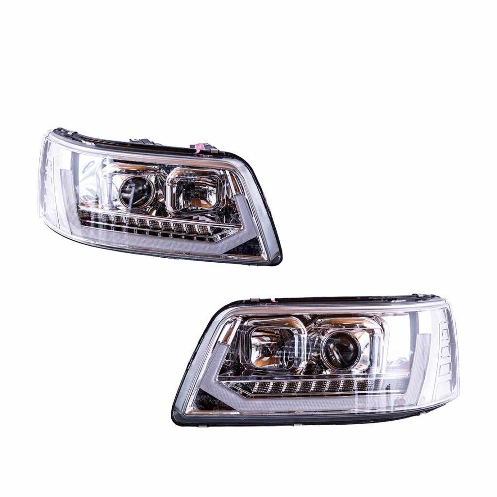 Alles drin: LED-Tagfahrlicht, dynamischer LED-Blinker, H1 und H7 Halogen