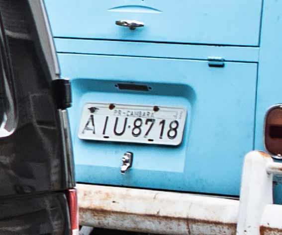 Auch geklaut: Brasilianisches Nummernschild AIU 8718