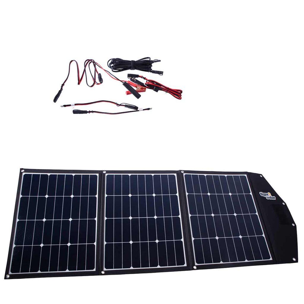 Solartasche 120Wp mit Kabelsatz ETFE-Oberfläche, 3x40W Sunpower als Tasche Tiny Tiger 120